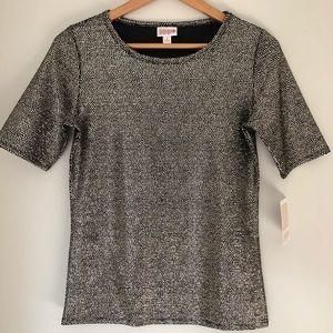 Lula Roe Black Shimmery Shirt